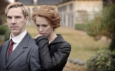 Benedict Cumberbatch and Rebecca Hall in Parade's End. Can't wait to see this!