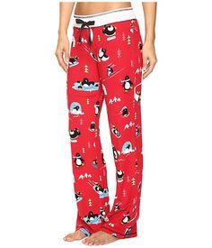 c1be923d6832 New PJ SALVAGE Penguin Run Red Thermal Cozy Pajamas Sleep Lounge Pants M  #PJSalvage #