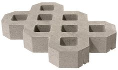"""24""""W x 16""""D x 3-1/2""""T Turfstone Paver at Menards Would make an awesome, pervious driveway."""