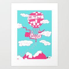 Snow Balloon Art Print by Kamikire - $17.68