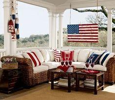 Buoys outdoor - a patriotic porch!