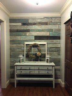 wood pallet wall art idea #homeimprovementseason2,