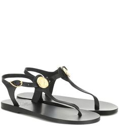 The Lito Coin silhouette from Ancient Greek Sandals plays testament to the fact that, sometimes, less is more. Working sleek and slender leather straps in wear-with-anything black, the minimalist T-bar style will .