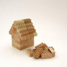 もくロック|山形の間伐材で作られたLEGOと同じサイズの木製ブロック