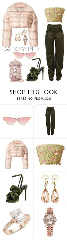 """""""LUXURYSTYLEZ WOMENS FASHION , FALL FASHION"""" by luxurystylez on Polyvore featuring Le Specs, Balenciaga, Off-White, Marco de Vincenzo, Valentin Magro, Saks Fifth Avenue and Rolex"""