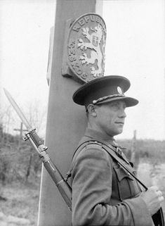Czechoslovak border guard Jan Hereha on the Czechoslovak-Polish border in the vicinity of the village Uzhok Border Guard, Historical Images, Modern Warfare, Cold War, Military History, World War Ii, Old Photos, Wwii, Army