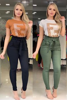 Fashion 2019 New Moda Style - fashion Casual Winter Outfits, Summer Outfits, Girl Outfits, Cute Outfits, Denim Fashion, Fashion Pants, Fashion Outfits, Moda Fashion, Muslim Women Fashion
