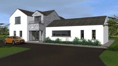 This Project includes the demolition of an existing dwellinghouse and construction of a new dwelling, garage, new driveway and all ancillary services. House Designs Ireland, Old School House, Ireland Homes, New Builds, Modern House Design, Bungalow, Building A House, Garage, Exterior