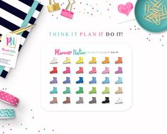 Ice Skate Planner Stickers  Perfect for Erin Condren Happy
