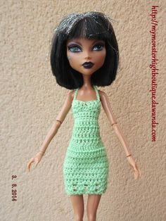 Vestido para Monster High V245 de My Monster High boutique por DaWanda.com