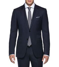 SuitCool wool Button, zip 2 buttons High reBlue86% Wool, 14% Silk(49136513EN) Ermenegildo Zegna