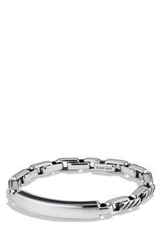 Men's David Yurman 'Modern Cable' ID Bracelet - Silver