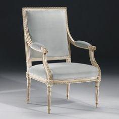 French Louis XVI Style Painted Armchair – English Georgian America