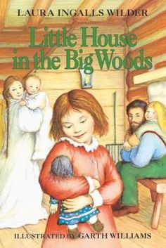 "Little House Series: Book One: Little House in the Big Woods. ""Laura Ingalls's story begins in 1871 in a little log cabin on the edge of the Big Woods of Wisconsin. Four-year-old Laura lives in the little house with her Pa, her Ma, her sisters Mary and Carrie, and their trusty dog, Jack. Pioneer life is sometimes hard, since the family must grow or catch all their own food as they get ready for the cold winter. But it is also exciting as Laura and her folks celebrate Christmas with . . ."""