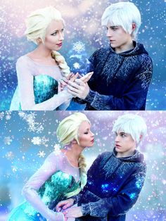 Jack Frost x Elsa - Cosplay by Aicosu.deviantart.com