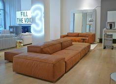 Sofa Extrasoft, Design Piero Lissoni in a beautiful showroom!