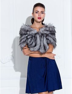 Vestido azul royal com estola