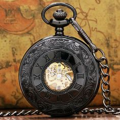 Steampunk Mechanical Pocket Watch P807C