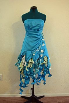 SALE!  Water Sprite, Jellyfish, Ocean Pixie, An Upcycled Costume Dress, Size 4