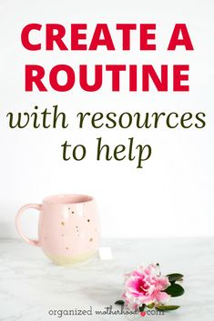 Struggling with time management or creating a family schedule you can live with? These tools will help you create a simple cleaning routine, morning routine, and a daily routine so you can finally feel organized.