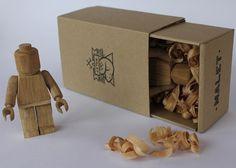 Wood Lego Figure
