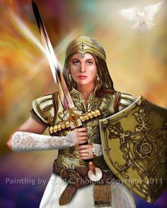 images of women warriors of faith | ... Thomas - Painting, Other, bride of Christ, warrior, christian, faith