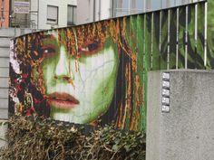 Street art on railings by zebrating Best Street Art, Amazing Street Art, Reverse Graffiti, Street Installation, Zebra Art, Protest Art, Different Kinds Of Art, Grades, Street Art Graffiti
