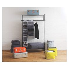 TRUNK Blue metal storage trunk   Buy now at Habitat UK
