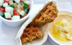 Falafel Waffle (and the secret to perfect hummus) by waffleizer  #Falafel #Waffle