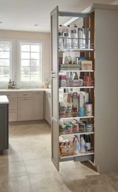 Unbeatable kitchen pantry organization hacks // Rev-A-Shelf 5300 Series 10 Inch by 59 Inch Tall Two Tier Pull Out Pantry Maple Tall Cabinet Organizers Pull Out Pantry Organizers Pull Out Kitchen Pantry Design, Diy Kitchen Storage, Home Decor Kitchen, Interior Design Kitchen, New Kitchen, Home Kitchens, Kitchen Organization, Organizing, Closed Kitchen Design