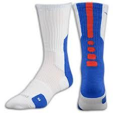 Nike Elite socks white blue red