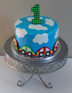 Vroommm!!!  A little 1st birthday cake for our cake decorator's baby boy!
