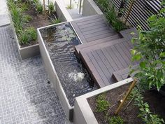 Water feature - Glen Iris: Stunning water feature incorporated in front fence and retaining wall at Glen iris property. www.landscapetanks.com.au