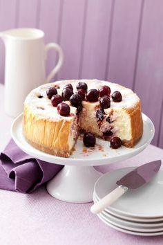 Baked Cherry Cheesecake