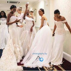 Backstage at @alonuko bridal collection shoot!  Photo via @ayokunu_  #weddings #weddingdress #bride #bridalinspiration #idonigeria
