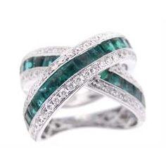 Diamond & Emerald Wedding & Engagement Rings