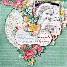 Kaisercraft - Anna Zaprzelska - My Sunny Place. Scrapbooking Layouts, Scrapbook Pages, Scrapbooks, Mini Albums, Presents, Tropical, Paper Crafts, Anna, Frame