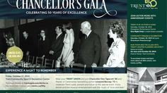 Chancellor Don Tapscott invites you to the upcoming Chancellor's Gala that takes place on October 2014 in Peterborough