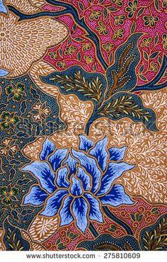 The beautiful of art Malaysian and Indonesian Batik Pattern Flora Pattern, Batik Pattern, Pattern Art, Pattern Design, Batik Art, Batik Prints, Textile Patterns, Textile Art, Print Patterns