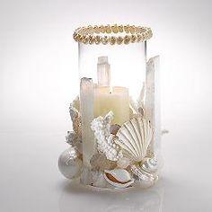 Seashell Crystal Hurricane Votive