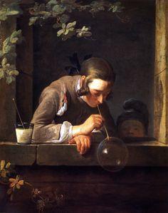 Jean Siméon Chardin (1699–1779), Soap Bubbles, 1733–35, National Gallery of Art, Washington