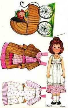 Gingham Girls Paperdolls, K and I would buy these at Ben Franklins in Benson mn. The girls names were Katie, Sarah, Carrie and Becky! Vintage Paper Dolls, Vintage Toys, Paper Toys, Paper Crafts, Paper Doll House, Paper Dolls Printable, Holly Hobbie, Illustrations, Clipart