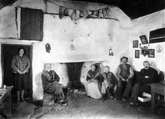 Family at Hearth, Inisheer, Co. Galway.