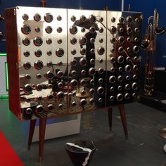 I liked this before, but the Monocles cabinet by @delightfulll looks even better in person! #ldf15 #delightfull #100design #brass