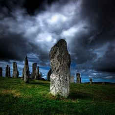 The Callanish Stones, Isle of Lewis, Scotland.