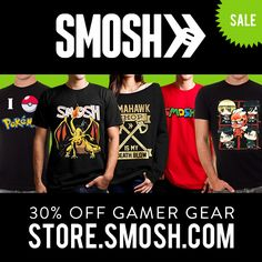 Cyber Monday Gamer Gear sale!!! All game-themed merch is 30% off!! #SmoshStore #Smosh #CyberMonday #Gaming #Gamer