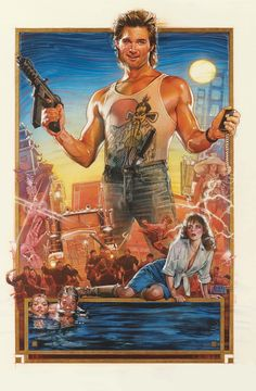 """Drew Struzan's iconic art style as shown in the poster for John Carpenter's """"Big Trouble in Little China."""""""