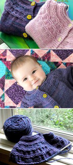 Grapes Sweater – Free Knitting Pattern – knitting sweaters for kids Baby Boy Knitting Patterns, Baby Sweater Knitting Pattern, Baby Sweater Patterns, Knitting For Kids, Baby Patterns, Knit Patterns, Free Knitting, Loom Knitting Projects, Knitting Stitches