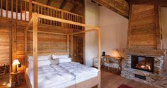 bedroom in Swiss ski lodge
