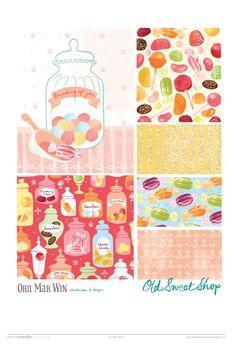 Old Sweet Shop. All Rights Reserved 2015 © Ohn Mar Win Lollipops sweet jars bonbons sherbert